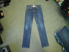 "Lux Skinny Jeans Waist 28"" Leg 30"" Faded Dark Blue Ladies Jeans"