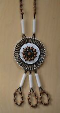 Black Pendant Navajo Ghost/Cedar Beads Necklace Juniper Berry L. Bitsoie.