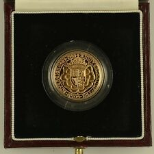1989 Tudor Rose 500th anniversario in oro proof completa SOVRANO 22 CARATI-COMPLETO