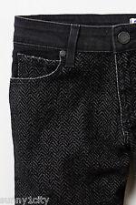 Anthropologie Paige Emily Flocked Skinny Jean 25 Flocked front black back $208