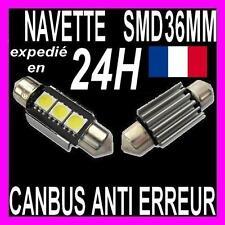 AMPOULE NAVETTE A 3 LED SMD C5W 36MM ANTI SANS ERREUR CANBUS PLAFONNIER PLAQUE