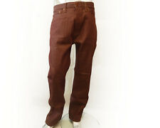 LEVIS 562 LOOSE TAPER FIT BUTTON FLY RED BROWN MENS JEANS SIZE W32 L32