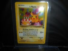 Pokemon HAPPY BIRTHDAY PIKACHU NO.24 ULTRA HOLOFOIL ! 1998 LAMINATED!!