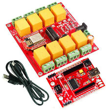 WiFi - 8 Channel Relay Board ESP8266-07 8 SPDT Relay channels LED indication