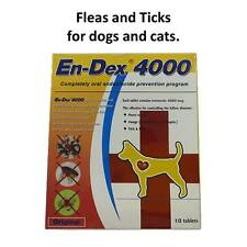 2xPet tablet pill En-Dex 4000 Remove Prevent Ticks and Fleas for Dogs & Cats