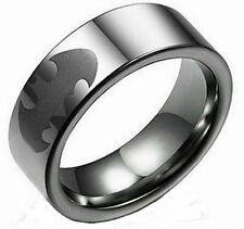 DC COMICS BATMAN ETCHED LOGO Stainless Steel BAND RING SIZE 10