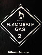 MEN'S VINTAGE HITMAN BUTANE FLAMMABLE GAS 2 T SHIRT 3XL