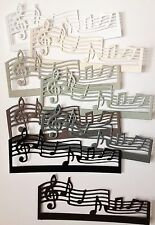 Joy crafts music scroll die-cuts (pack de 8) monochrome mix
