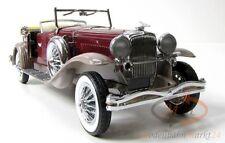 FRANKLIN MINT 1930 Duesenberg J Cabriolet weinrot/graubraun Scale 1:24