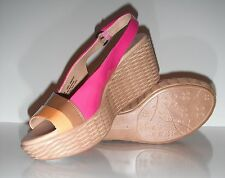 New Naturalizer Women's Ladell platform Pink/Orange Sandal Shoe size 9M