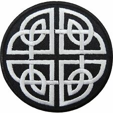 Variation Celtic Shield Knot Keltic Cross Wicca Biker Tattoo Iron on Patch #1223