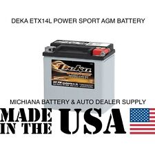 DEKA ETX 14L HARLEY DAVIDSON & OTHERS AGM MAINTENANCE FREE POWER SPORT BATTERY