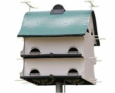 Purple Martin 12 Family Bird House Barn Birdhouse White Weather UV Resistant NEW