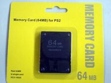 New with Warranty 64MB Memory Card - Sony PlayStation 2 PS2  US Seller