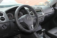 2016 Solid Black Slip-On Style Steering Wheel Cover Perfect Fit Comfy Handling