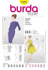 BURDA SEWING PATTERN LADIES FORM FITTING DRESS SIZE 12 - 22 7178