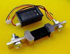 [DC 0V-100V] 300A Dual 2In1 LED Digital Ammeter Voltmeter AMP Meter R&B w/Shunt
