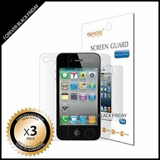 iPhone 4 4S Screen Protector Anti-Scratch Clear 3x Front Back Full Body Cover