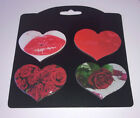 Kühlschrankmagnete Set Herz Love Rose Pinnwand-Magnet Herzen Kühlschrankmagnet