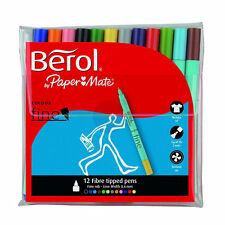 Berol by Papermate Colour Fine Felt Tip Colouring Pens Assorted Colours, Cheap S