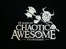 13 Years Chaotic Awesome Thinkgeek Computers Video Game Clothing Black T Shirt M