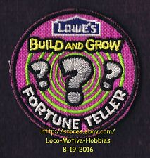 LMH PATCH Badge  FORTUNE TELLER ??? Palm Reader  LOWES Build Grow Project Series