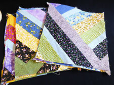 "Assorted lot of 24 10.75"" square Cotton Fabric Quilting Block Floral Multi color"