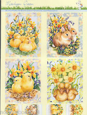 PRECUT EASTER DUCK CHICK  PAPER TOLE DIMENSIONAL GERMANY CARD  ORNAMENT COLLAGE