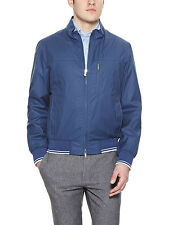 LONGHI Track Jacket COATED Leather Trim 50 Italy Reg $975+ Free US Ship NEW