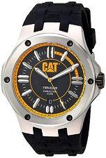 Men's Caterpillar CAT Navigo Black Rubber Date Yellow Analog Watch A114121127