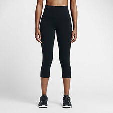 Women's Nike Power Legendary High Rise Training Capris 822941 010 SIZE M Black