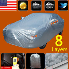 8Layer Car Cover Soft Cotton Outdoor Waterproof Snow Sun UV Dust Ice Resist 3XXL