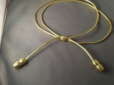 U.S. Army General Officer Gold Drill Sergeant Campaign Hat Cord w/Acorns Gold
