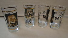 Set of 4 gold water drinking glasses 1964 H2O elephant