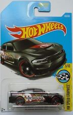 2017 Hot Wheels HW SPEED GRAPHICS 6/10 '15 Dodge Charger SRT 9/365 (Black)