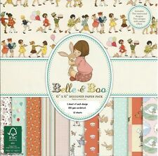 DOVECRAFT BELLE & BOO PAPERS 6 X 6 SAMPLE PACK  1 OF EACH DESIGN - 12 SHEETS