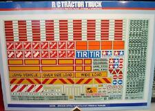 Tamiya 56534 1/14 RC Tractor Truck & Semi Trailer Realistic Sticker Set