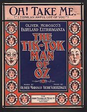Oh Take Me (I Think An Awful Lot of You) 1913 The Tik Tok Man Of Oz Large Format