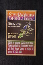 Stevie Ray Vaughn Stray Cats 1986 tour poster