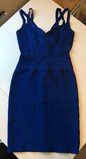 "Herve Leger blue ""Alba"" bodycon dress S Retail price 1395"