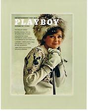 AUTOGRAPHED PHOTO W/COA of PLAYBOY JAN 1964 SHARON ROGERS - Cover Photo