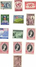 MALAYA (now known as Malaysia) - SET OF 13 - 1953/1957/1958/1960