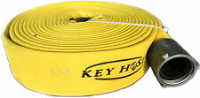 "2-1/2"" NST x 50' Polyester Double Jacket attack Fire Hose 800Psi test Yellow"