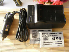 2pcs Battery + Charger for Nikon Coolpix EN-EL5 P500 P510 P520 P530  Camera