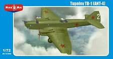 1/72 Tupolev TB-1 soviet WWII bomber + PE parts - NEW Mikromir !