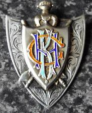 KNIGHTS OF THE GOLDEN HORN VINTAGE 1922 HALLMARKED SILVER MEDAL / JEWEL - RAOB