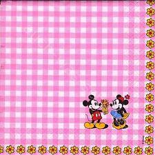 8 serviettes des nappes Disney Minnie & Mickey-pretty pink-Amérique BD di046