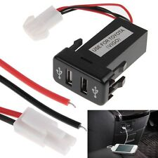 Dual USB Charger for Toyota OEM Switch Prado 120, FJ Cruiser, LC100, Hilux