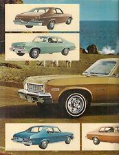 Chevrolet Nova 1973 USA Market Leaflet Sales Brochure Sedan Hatchback Coupe