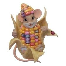 "Charming Tails Fall Harvest Thanksgiving Indian Corn Mouse 3"" New 2017 130458"